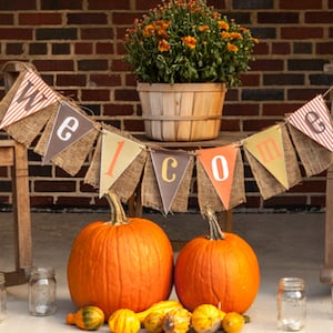 welcome fall porch stand