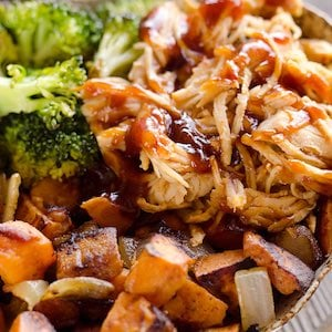 BBQ Chicken and Roasted Sweet Potato Meal Prep Recipe