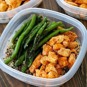 Baked Lime Chicken Meal Prep Bowls