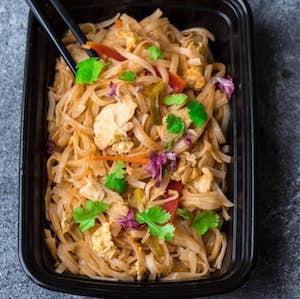 Chicken Pad Thai Noodles meal prep recipe