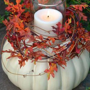 DIY Pumpkin Candleholder