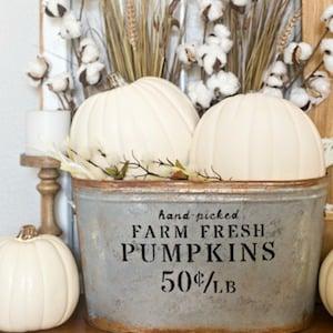 DIY Farmhouse Pumpkin Bucket
