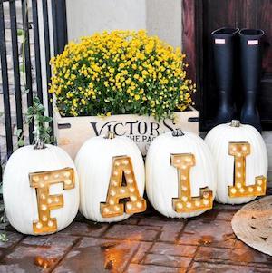 fall pumpkin light up marque