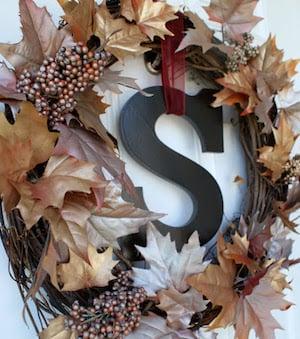 Metallic Fall Wreath