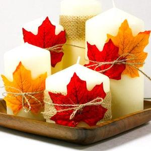 DIY Fall Candle Centerpiece