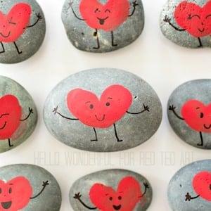 heart Valentine's Day rock