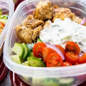 Easy Meal Prep Greek Chicken Bowls for lunch