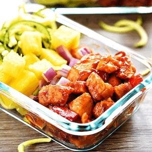 Hawaiian Chicken Meal Prep Lunch Bowls