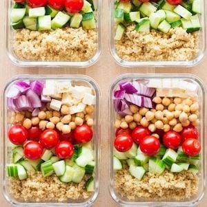 Healthy vegetarian Meal Prep Bowls