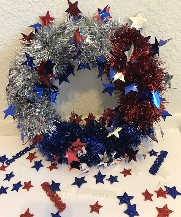 4th of july wreath - Burlap Ribbon Christmas Decor