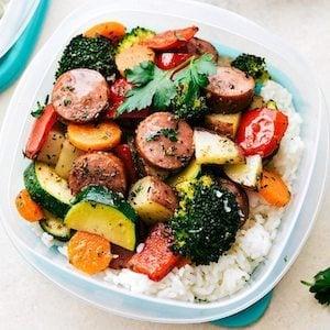 One Pan Italian Sausage and Veggies easy meal prep idea
