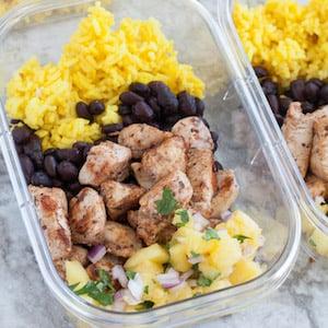 Jerk Chicken Meal Prep Idea