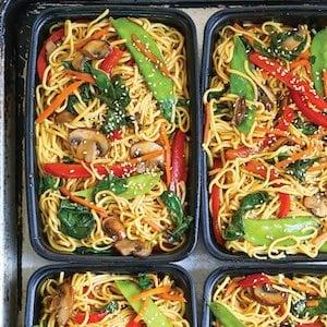 Lo Mein Meal Prep idea