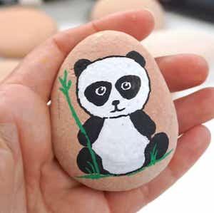 Panda Rock Painting