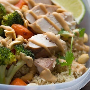Peanut Lime Meal prep Chicken Lunch Bowl