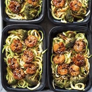 Shrimp Teriyaki Zucchini Noodles