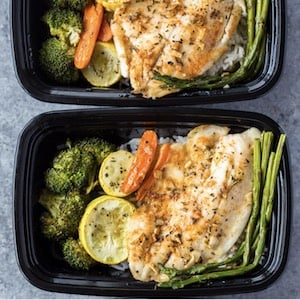 Cheap and Healthy Meal prep Tilapia and Veggies