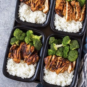 20 Minute Easy Chicken, Rice and Broccoli Lunch