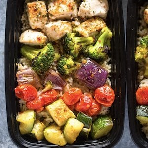 Healthy Meal Prep Chicken and Veggies