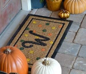 Monogram Fall Doormat