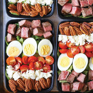 Steak Cobb Salad Meal Prep idea