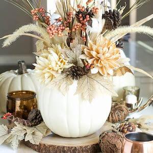 DIY Pumpkin VaseFall Floral Centerpiece