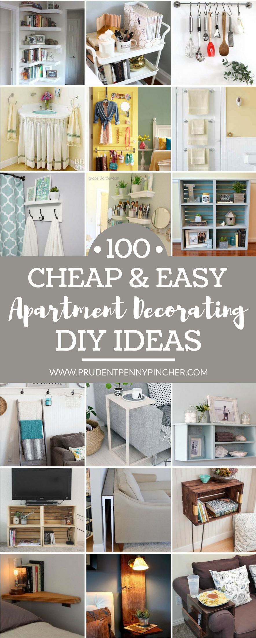 100 Cheap and Easy DIY Apartment Decorating Ideas - Prudent Penny ...