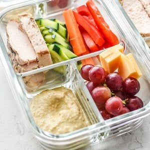 Chicken and Hummus Lunch Meal Prep