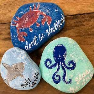 Beach Themed Rocks