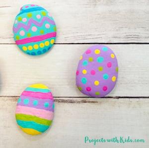 Painted Easter Egg Rocks