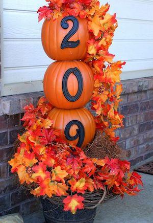 DIY Pumpkin Topiary