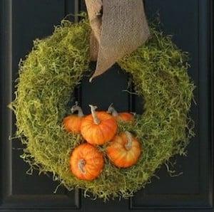 Moss and Mini Pumpkin Wreath
