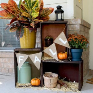 fall crate display for outside