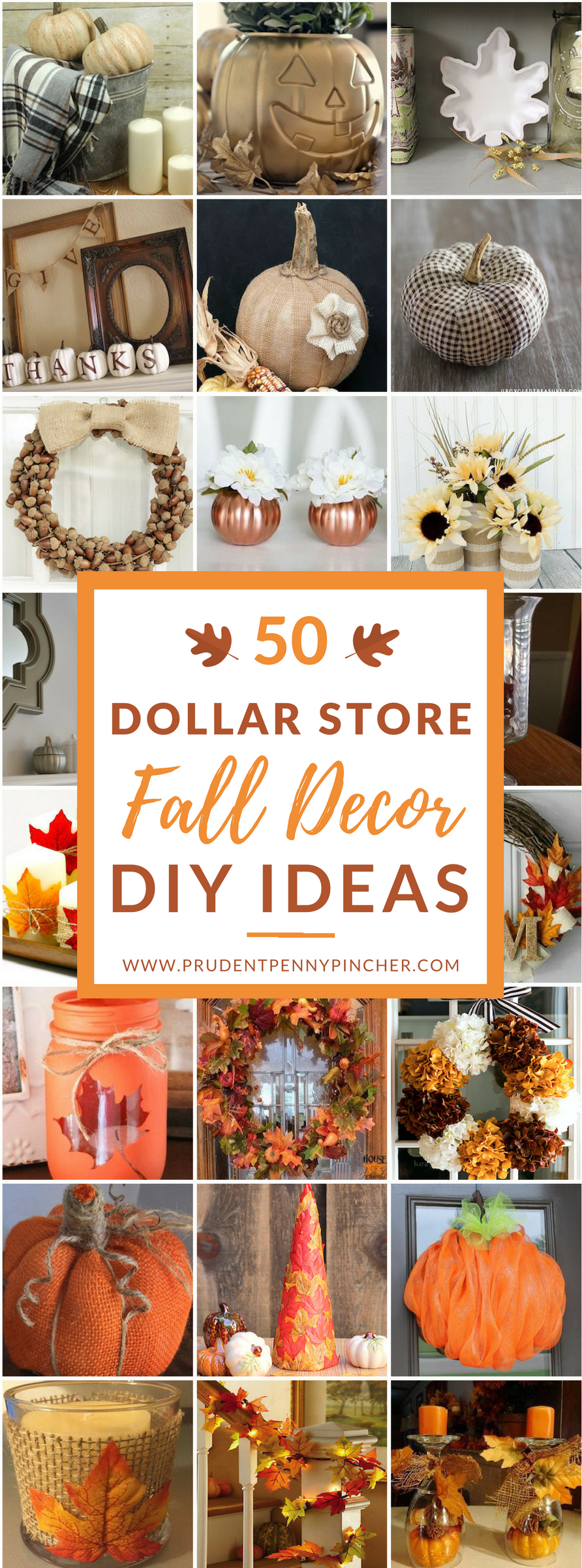 Diy Fall Decor Part - 23: 50 Dollar Store Fall Decor DIY Ideas