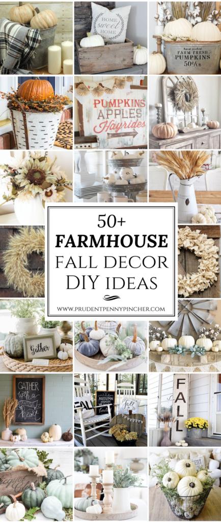 50 Farmhouse Fall Decor DIY Ideas