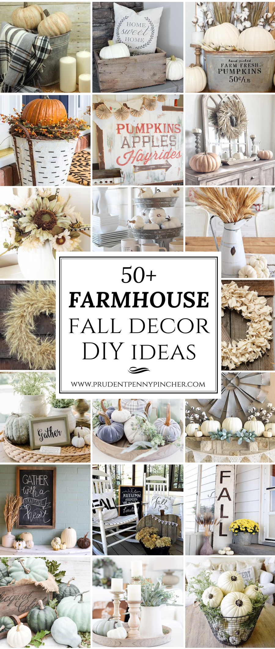 50 Farmhouse Fall Decor Ideas - Prudent Penny Pincher