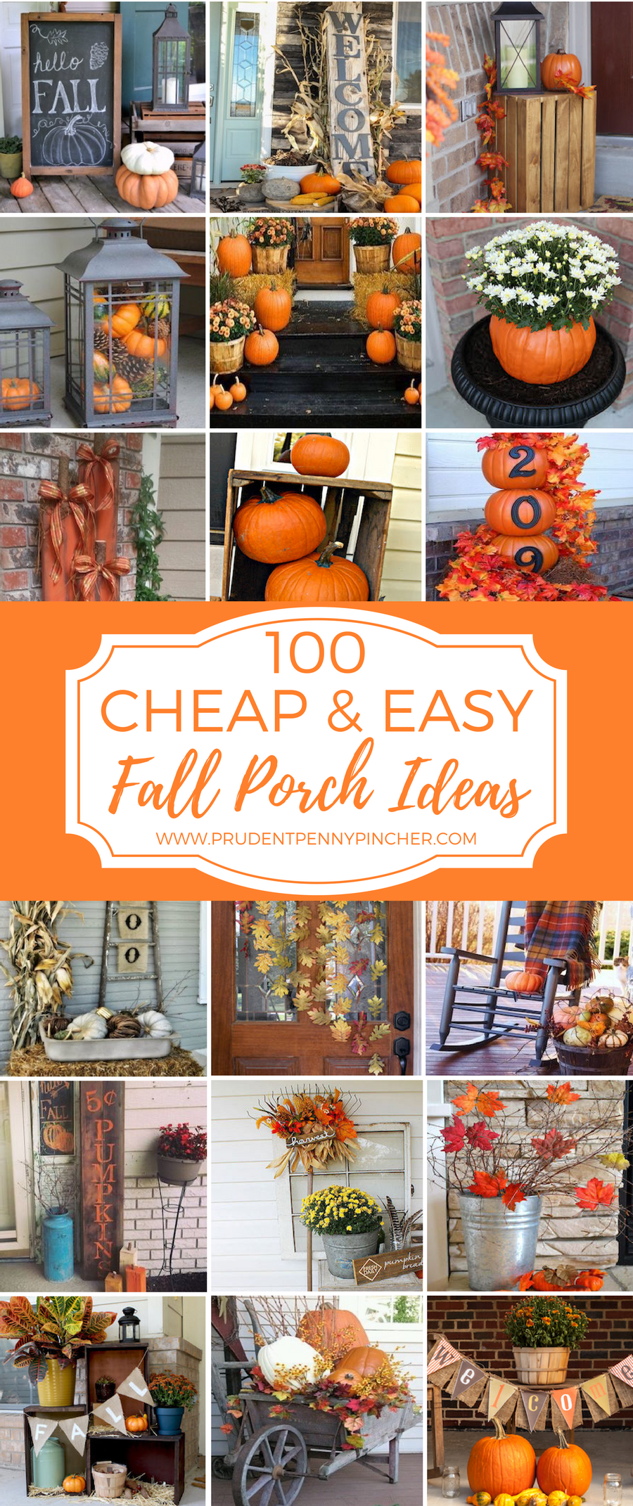 100 cheap and easy fall porch decor ideas prudent penny - How to get exterior paint out of clothes ...
