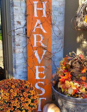 DIY Harvest Sign