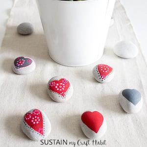 Mandala Heart Rocks