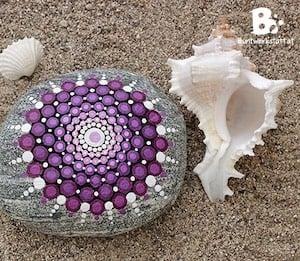 Mandala Rock Painting Idea