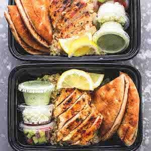 Meal Prep Greek Chicken Gyro Bowls
