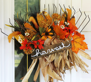 50 Cheap and Easy DIY Fall Wreaths - Prudent Penny Pincher