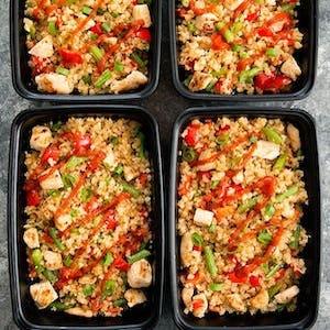 Sriracha Chicken Cauliflower Fried Rice