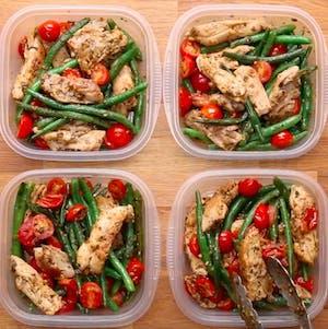 Pesto Chicken & Veggies Meal Prep Idea