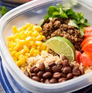 easy meal prep Salsa Verde Taco Bowls