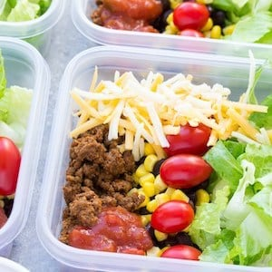Taco Salad Meal Prep Lunch Bowls