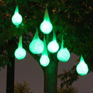 glowing halloween light pods small balloons coffee filters white glue glow sticks string - Halloween Lighting Ideas