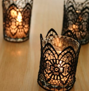 Black Lace Candle