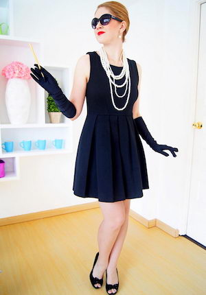 little black dress black gloves pearl necklaces black sunglasses  sc 1 st  Prudent Penny Pincher & 100 Cheap and Easy DIY Halloween Costume Ideas - Prudent Penny Pincher