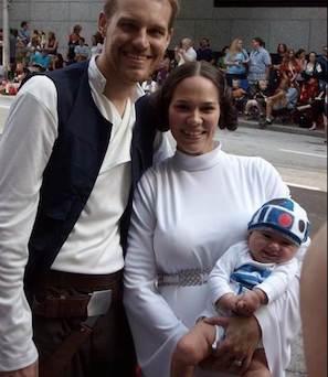 Luke Skywalker and Princess Leia costume for couples